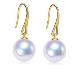Orecchini Monachelle Oro 18k con perle Akoya bianche