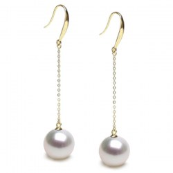 Orecchini in oro 18k e perle bianche Australiane AAA