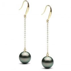 Orecchini oro 18k con perle nere di Tahiti AA+ o AAA