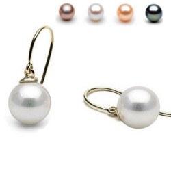 Orecchini Argento monachelle aperte con perle d'Acqua Dolce AAA
