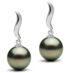 Orecchini Oro 9k e perle di Tahiti a partire da 8-9 mm