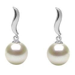 Orecchini in Oro 9k con perle di coltura Akoya bianche