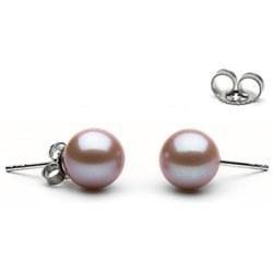 Orecchini oro 14k perle di Acqua Dolce 9-10 mm Lavanda AAA