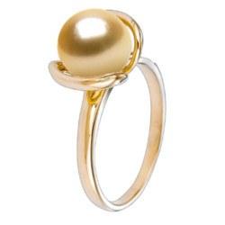 Anello in oro 18 carati con perla filippina di qualità AAA