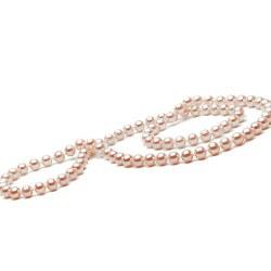 Collana 66 cm di perle d'acqua dolce, 7-8 mm Rosa pesca