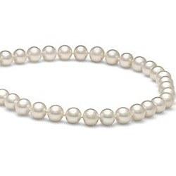 Collana 40 cm di perle di coltura d'acqua dolce da 7-8 mm, bianche