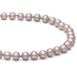 Collana 40 cm di perle di coltura d'acqua dolce da 7-8 mm, lavanda