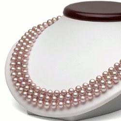 Collana Triplo Filo 43/45/47 cm Perle DOLCEHADAMA lavanda 6-7 mm