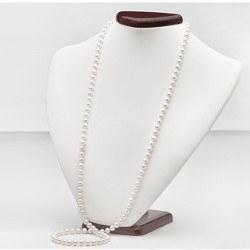 Sautoir 90 cm di perle d'acqua dolce bianche 6-7 mm