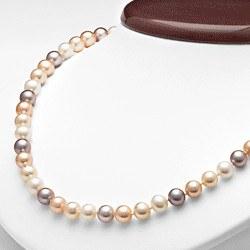Collana 45 cm di perle di coltura d'acqua dolce da 7-8 mm, multicolore