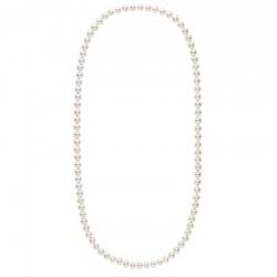 Collana Sautoir 70 cm di perle di coltura d'acqua dolce, 9-10 mm, bianche