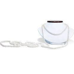 Lunghissima Collana sautoir 305 cm perle d'acqua dolce bianche da 8-9 mm