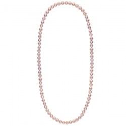 Collana sautoir 70 cm di perle d'acqua dolce lavanda da 8-9 mm