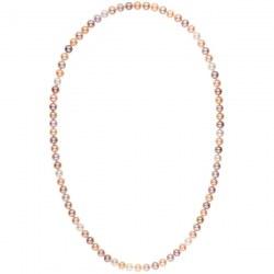 Collana sautoir 70 cm di perle d'acqua dolce multicolori da 8-9 mm