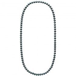 Collana sautoir 70 cm di perle d'acqua dolce nere da 8-9 mm