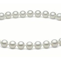 Collana 50 cm perle d'acqua dolce 6-7 mm bianche DOLCEHADAMA