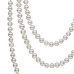 Collana Sautoir 130 cm perle d'acqua dolce 6-7 mm bianche DOLCEHADAMA