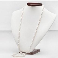 Collana Sautoir 90 cm perle d'acqua dolce 7-8 mm bianche DOLCEHADAMA