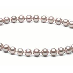 Collana 40 cm perle d'acqua dolce 6-7 mm lavanda DOLCEHADAMA