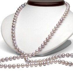 Sautoir di perle d'acqua dolce 90 cm da 6-7 mm lavanda DOLCEHADAMA
