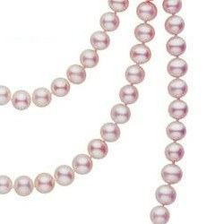Sautoir di perle d'acqua dolce 130 cm da 6-7 mm lavanda DOLCEHADAMA