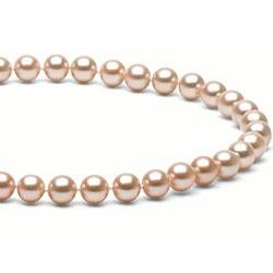 Collana 40 cm perle d'acqua dolce 6-7 mm rosa pesca DOLCEHADAMA