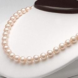 Collana 45 cm perle d'acqua dolce 6-7 mm rosa pesca DOLCEHADAMA