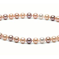 Collana 40 cm perle d'acqua dolce 6-7 mm multicolore DOLCEHADAMA