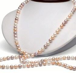 Sautoir di perle d'acqua dolce 90 cm da 6-7 mm multicolori DOLCEHADAMA