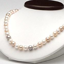 Collana 45 cm perle d'acqua dolce 6-7 mm multicolore DOLCEHADAMA