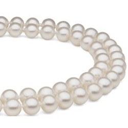 Collana Doppio Filo 43/45 cm Perle DOLCEHADAMA bianche 7-8 mm