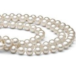 Collana Triplo Filo 43/45/47 cm Perle DOLCEHADAMA bianche 7-8 mm