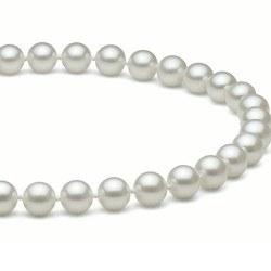 Collana 50 cm perle d'acqua dolce 7-8 mm bianche DOLCEHADAMA