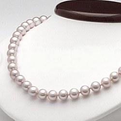 Collana 45 cm perle d'acqua dolce 7-8 mm lavanda DOLCEHADAMA
