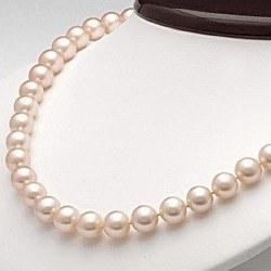 Collana 45 cm perle d'acqua dolce 7-8 mm rosa pesca DOLCEHADAMA