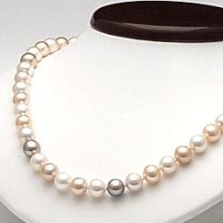 Collana 45 cm perle d'acqua dolce 7-8 mm multicolore DOLCEHADAMA