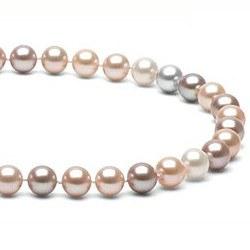 Collana 40 cm perle d'acqua dolce 7-8 mm multicolore DOLCEHADAMA