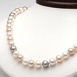 Collana 45 cm perle d'acqua dolce 8-9 mm multicolore DOLCEHADAMA
