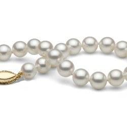Braccialetto 18 cm perle d'acqua dolce 7-8 mm bianche DOLCEHADAMA