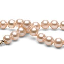 Braccialetto di perle d'acqua dolce 7-8 mm rosa pesca DOLCEHADAMA