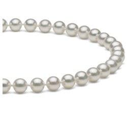 Collana di perle di coltura Akoya, 45 cm, 6-6.5 mm, bianche