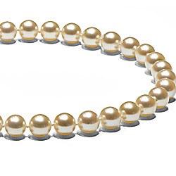 Collana 45 cm di Perle ci coltura Akoya Champagne 7-7,5 mm AAA