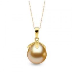 Pendente Oro 18k e perla delle Filippine Gold a goccia 10-11 mm AAA