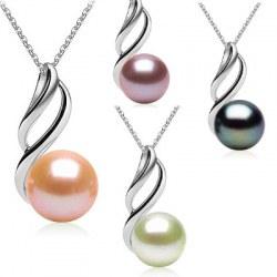 Pendente Oro 9 carati con perla d'acqua dolce da 9-10 mm AAA