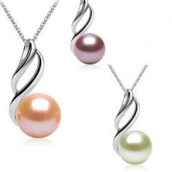 Pendente in argento 925 con perla d'acqua dolce da 9-10 mm DOLCEHADAMA