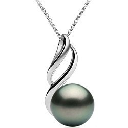 Pendente in Argento 925 con Perla di Tahiti 9-10 mm
