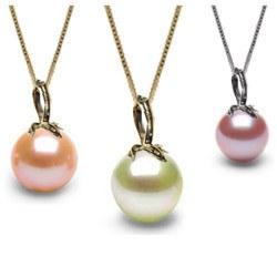 Pendente in oro 18k con una perla di coltura d'acqua dolce DOLCEHADAMA