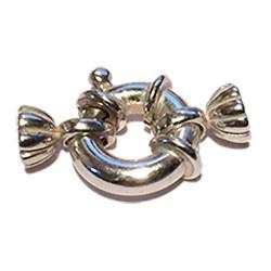 Fermaglio salvagente in Argento Ø:10 mm per collana o braccialetto di perle