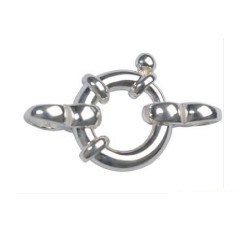 Fermaglio salvagente in Argento Ø:14 mm per collana o braccialetto di perle