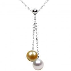 Collana Argento 925 40 cm con Perla Australiana e Perla Filippina